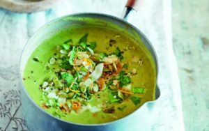 Spiced Peanut Parsnip Soup